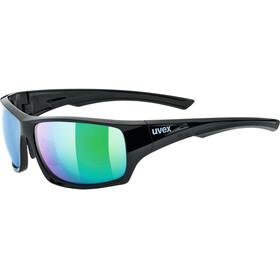 UVEX Sportstyle 222 Pola Sportglasses black green/mirror gree